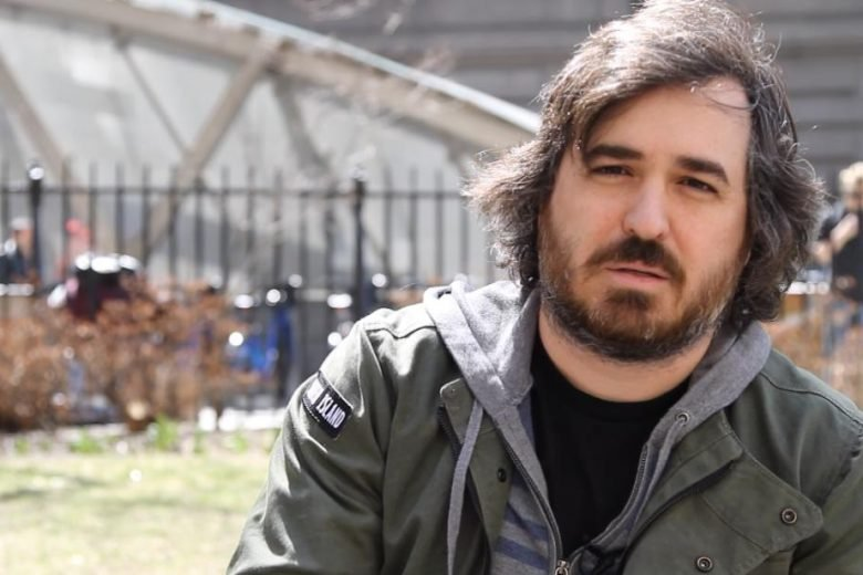 "impractical jokers star brian ""Q"" quinn shaves his head."